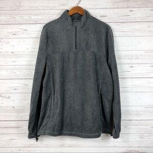 NWT Croft & Barrow Gray Quarter Zip Sweater